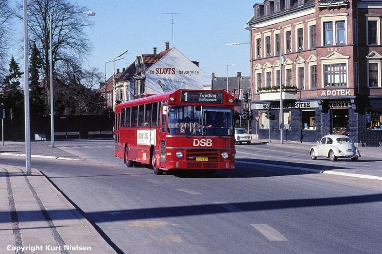 DSB 508/CZ96030 i Sydbanegade i Kolding i 1977