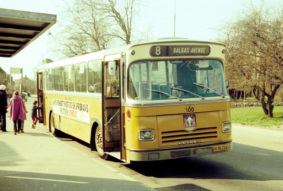 Århus Sporveje 100/AK90216 i Marienlund i Århus den 31. marts 1974