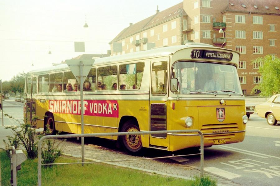 Århus Sporveje 3/XU80503 på Harald Jensens Plads i Århus den 4. juni 1975