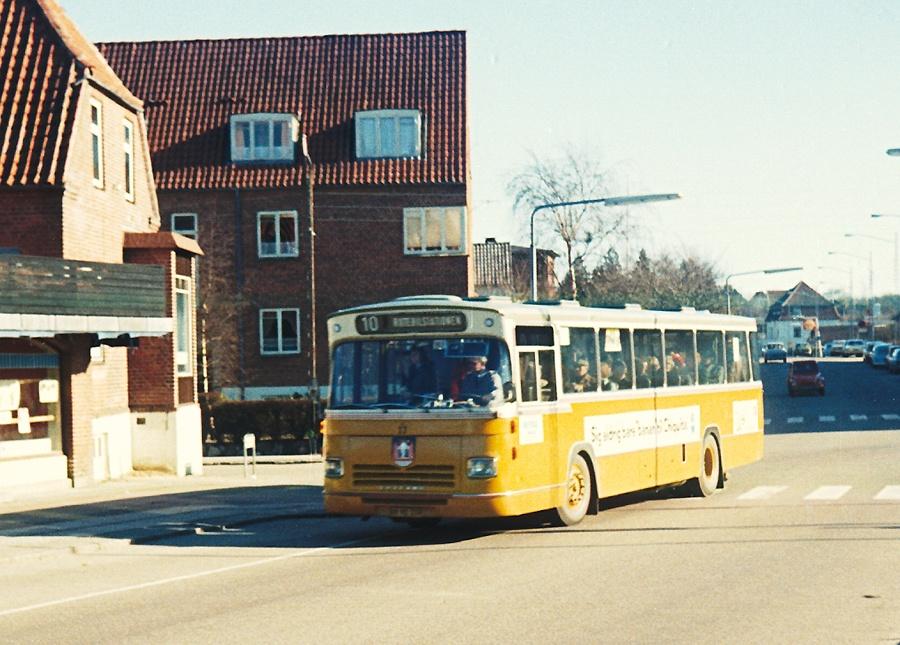 Århus Sporveje 17/AK90339 på Kridthøj Torv i Højbjerg den 24. februar 1974