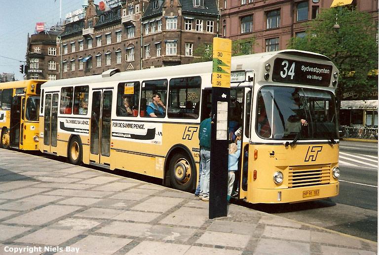 HT 1470/HP91183 på Vester Voldgade i København den 11. maj 1988