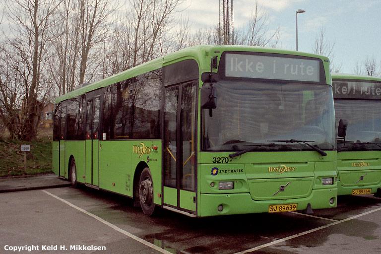 Arriva 3270/SJ89639 i Vejle den 15. marts 2008