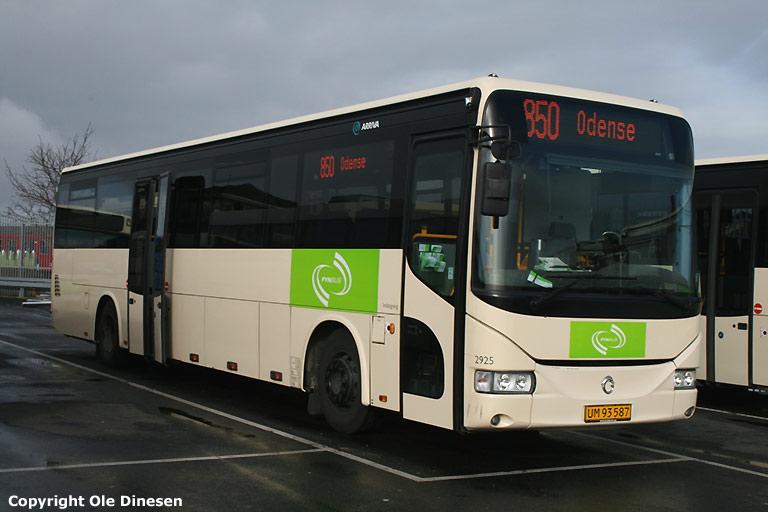 Arriva 2925/UM93587 i Odense den 21. marts 2008