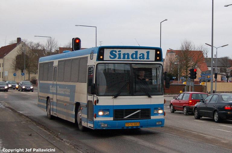 Sindal Busservice TD92883 på Parallelvej i Hjørring den 4. januar 2008