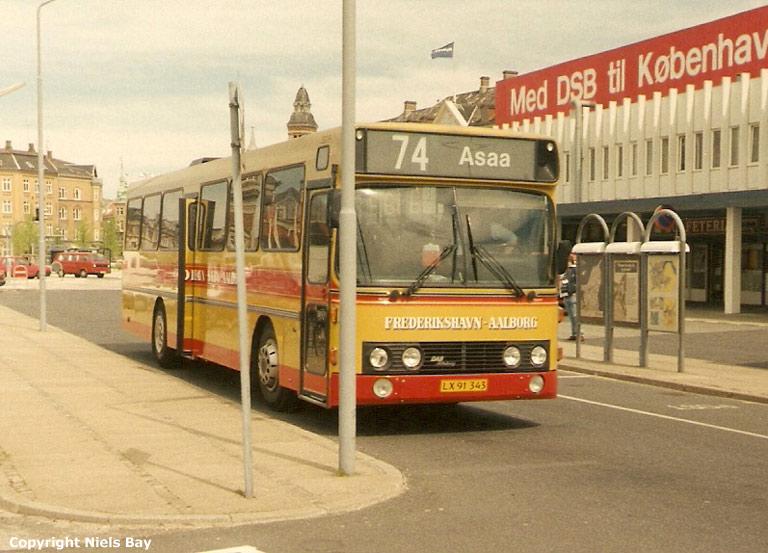 Smed LX91343 på Aalborg rutebilstation den 26. maj 1995
