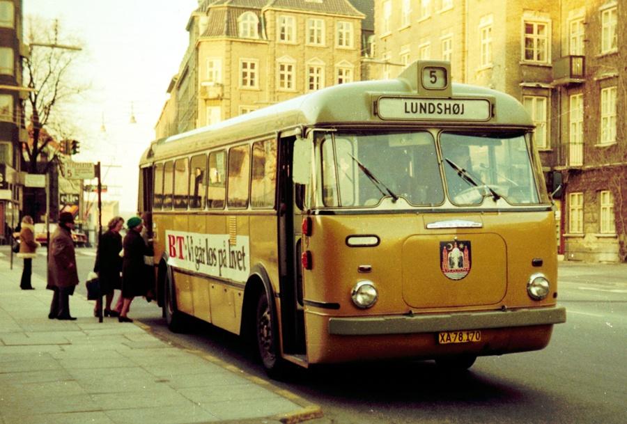 Århus Sporveje 170/XA78170 på Rådhuspladsen i Århus den 26. marts 1974