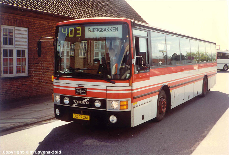 Jensens Turisttrafik 02/OC97261 i Ringsted et ukendt år
