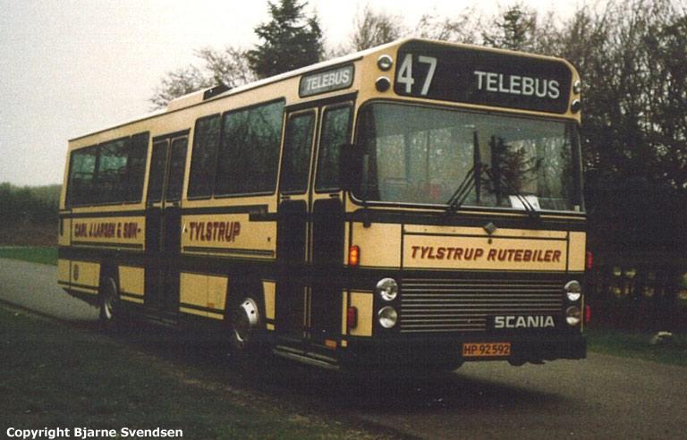 Tylstrup Rutebiler 13/HP92592 i Vadum i 1988