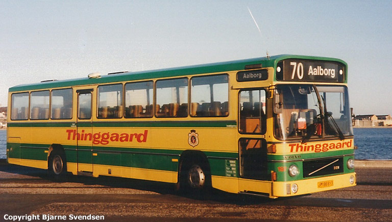 Thinggaard 197/JM88813 på havnen i Aalborg i april 1995