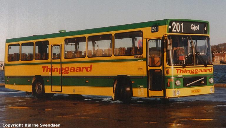 Thinggaard 206/KX96607 på havnen i Aalborg i april 1995