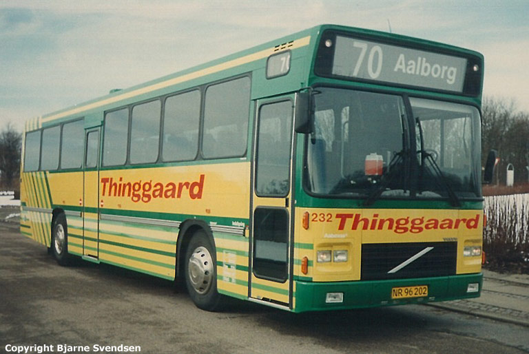 Thinggaard 232/NR96202 ved travbanen i Aalborg i marts 1994