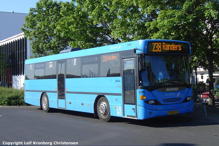 Arriva 3319/TM88212 på Randers rutebilstation den 6. juni 2008