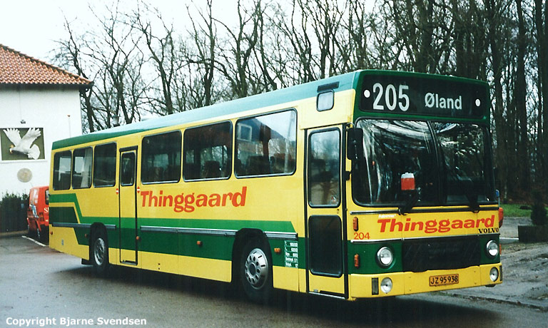 Thinggaard 204/JZ95938 ved Skydepavillionen i Aalborg i maj 1995