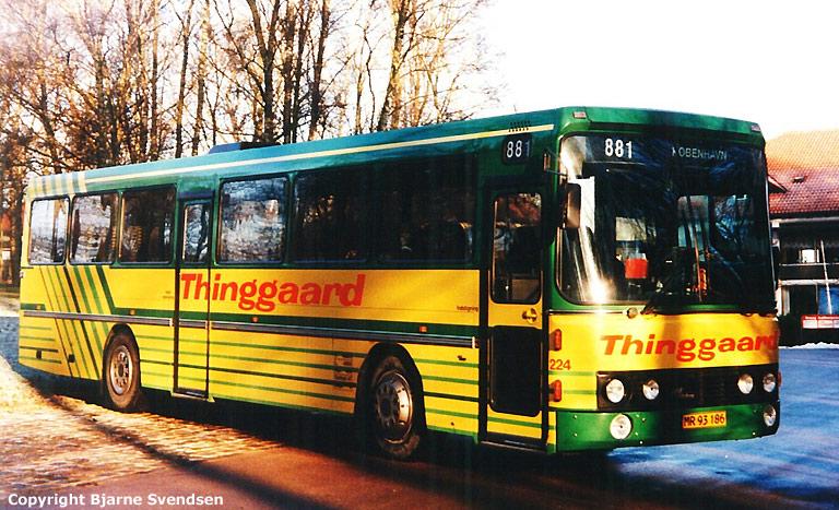 Thinggaard 224/MR93186 ved Skydepavillionen i Aalborg i marts 1995