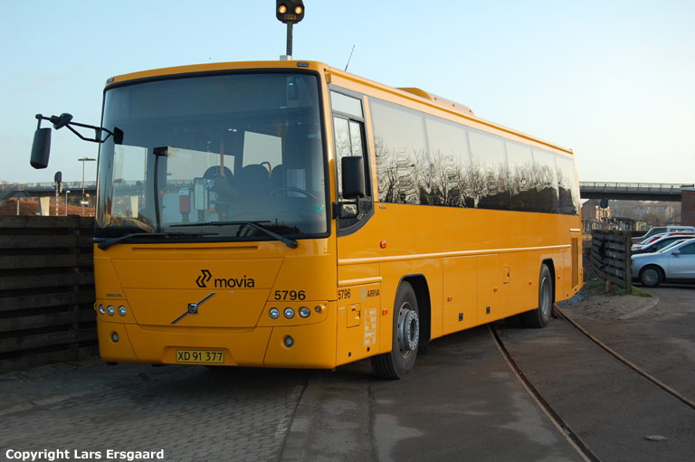 Arriva 5796/XD91377 i Næstved den 22. december 2008
