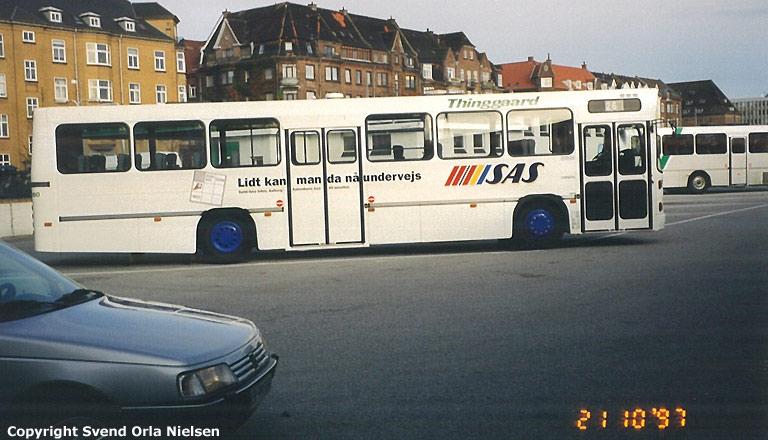Thinggaard 260/OY96064 på Aalborg rutebilstation den 21. oktober 1997