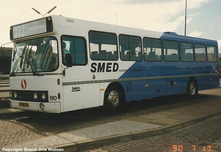 Smed 110/LP89349 på Aalborg rutebilstation den 17. juli 1990