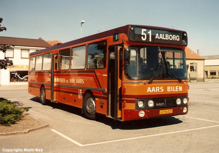 Aars Bilen JZ94027 på Aars rutebilstation den 24. maj 1989