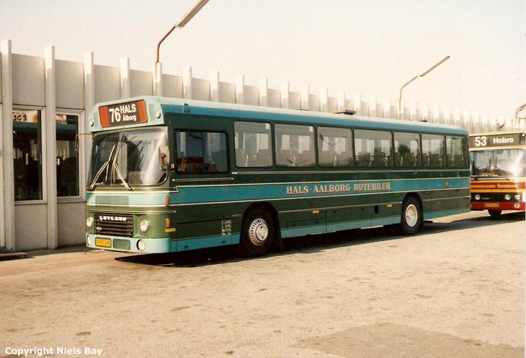 Hals Rutebiler EM97280 på Aalborg rutebilstation den 25. maj 1989
