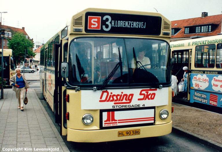 Haderslev Bybusser 13/HL90386 i Haderslev et ukendt år