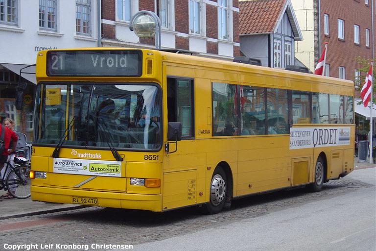 Arriva 8651/RL92470 på Adelgade i Skanderborg den 8. august 2008
