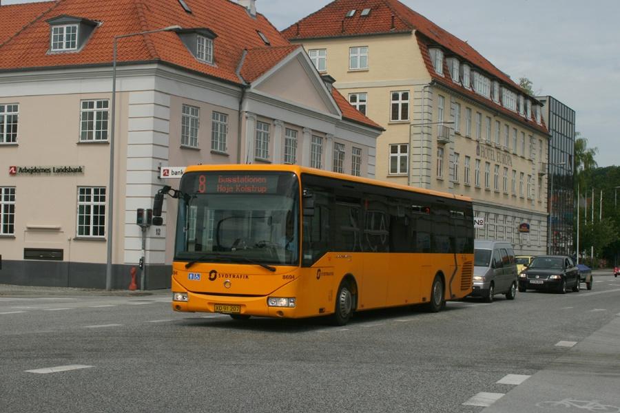 Tide Bus 8694/XD91207 på H. P. Hansens Gade i Aabenraa den 9. juli 2011