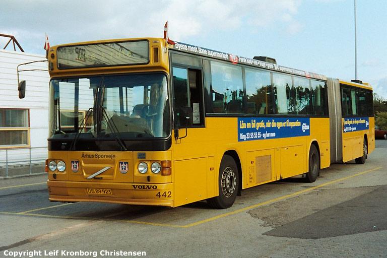 Århus Sporveje 442/OS89923 i Garage Syd i Hasselager den 14. oktober 2003