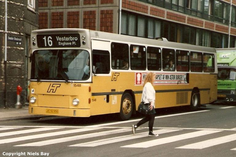 HT 1548/JE92950 på Sønder Boulevard i København den 23. juni 1988