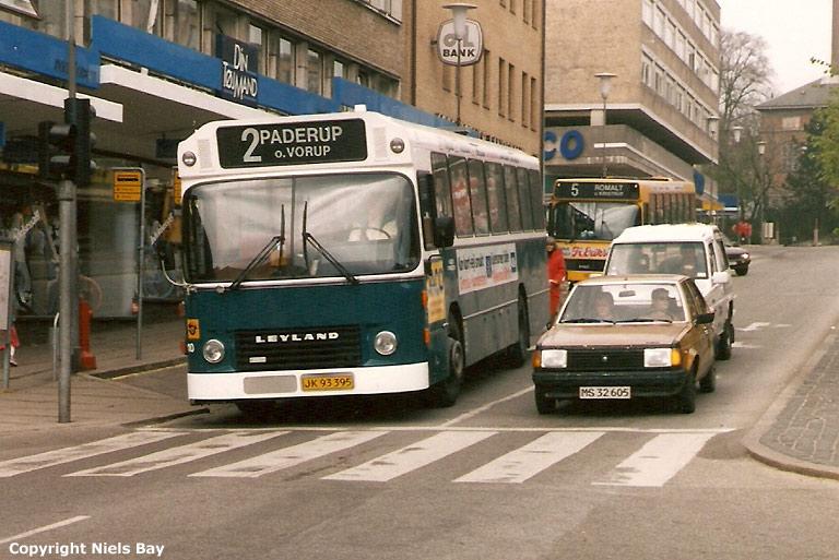 Randers Byomnibusser 110/JK93395 på Østervold i Randers den 2. maj 1989