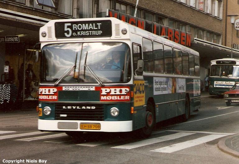 Randers Byomnibusser 104/EH88708 på Østervold i Randers den 26. april 1988