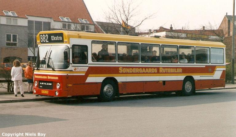 Søndergaards Rutebiler 37/JS91239 på Randers rtb. den 27. marts 1989