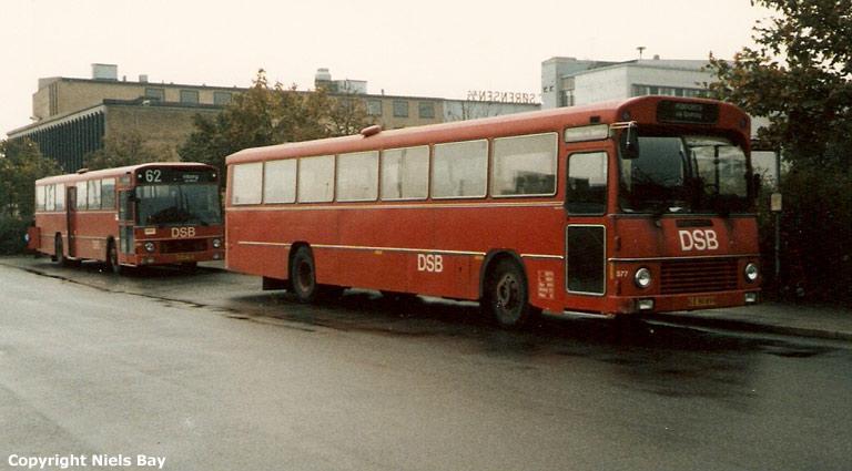 DSB 577/EE90859 og 868/HV89791 på Randers rtb. i 1987
