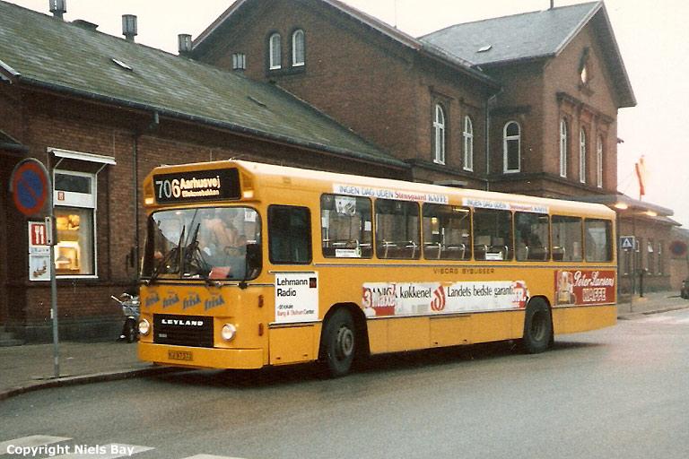 Pan Bus 143/HV97370 ved Viborg st. i 1987