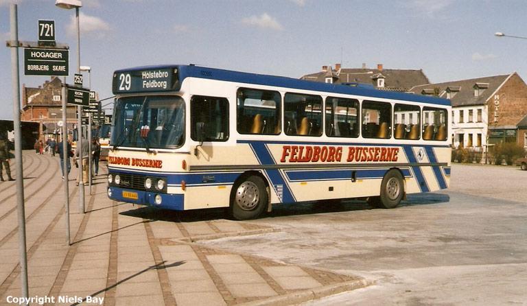 Feldborg Busserne 6/JV88449 på Holstebro rtb. i april 1989