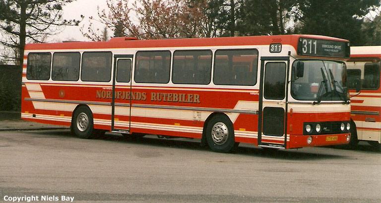 Nordfjends Rutebiler LT91456 på Skive rtb. i april 1989