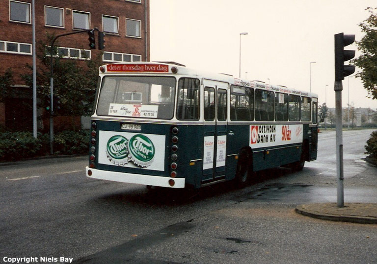 Randers Byomnibusser 79/CJ98980 i Havnegade i Randers i marts 1987