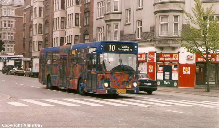 HT 1406/HX96960 på Ny Carlsbergvej i København den 5. maj 1989