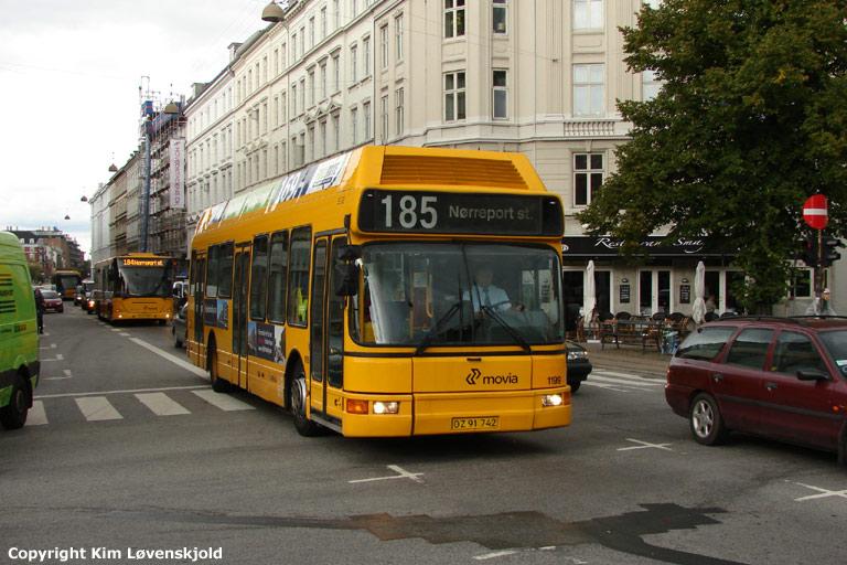Arriva 1199/OZ91742 i Sølvgade i København den 16. september 2008