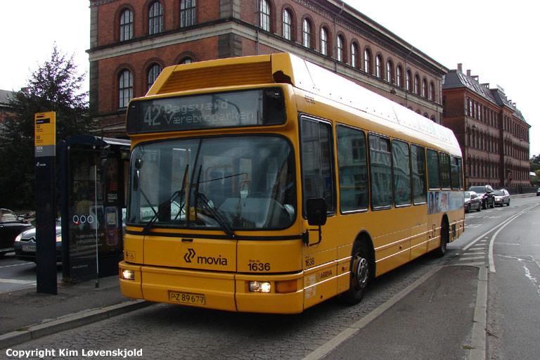 Arriva 1636/PZ89677 på Øster Farimagsgade i København den 16. september 2008