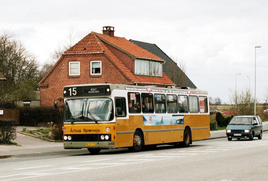 Århus Sporveje 268/MC91770 i Hasselager den 17. april 2001