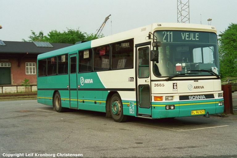 Arriva 2685/RL96925 i garagen i Vejle den 19. maj 2004