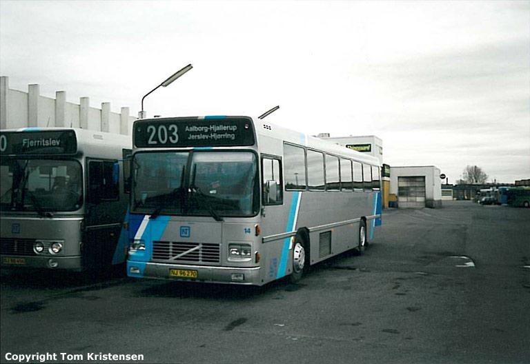 Burskovs Rutebiler 14/NJ96270 på Aalborg rtb. i 2001