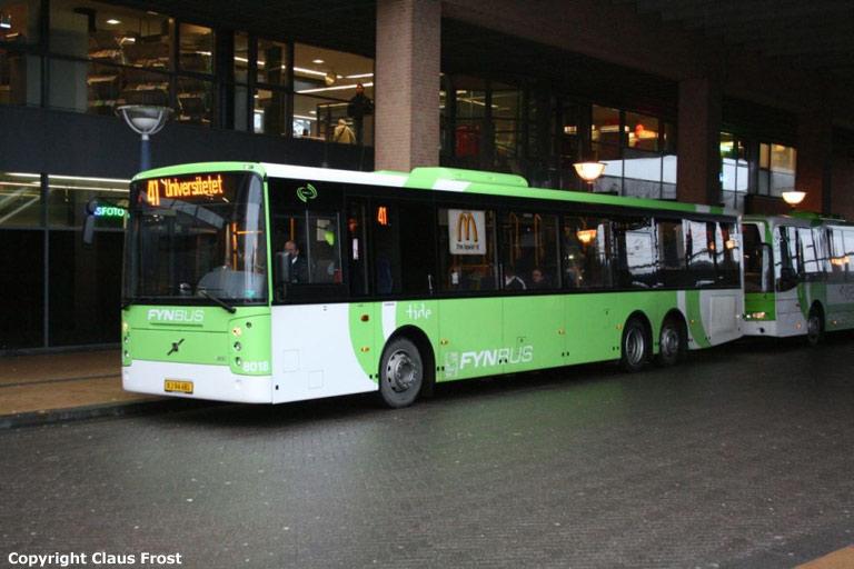 Tide Bus 8018/XJ94481 ved Banegården i Odense den 23. januar 2009