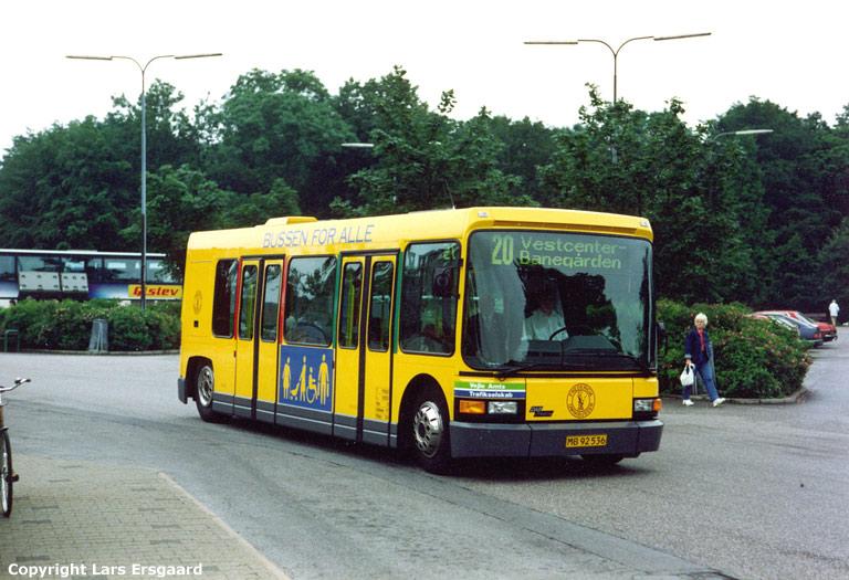 Fredericia Omnibusser MB92536 ved Fredericia st. den 25. juni 1990