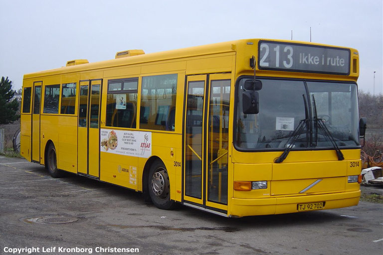 Arriva 3014/TJ92702 i garagen i Roskilde den 10. december 2005