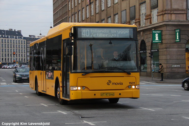 Arriva 1501/UT97040 på Bernstorffsgade i København den 10. marts 2008