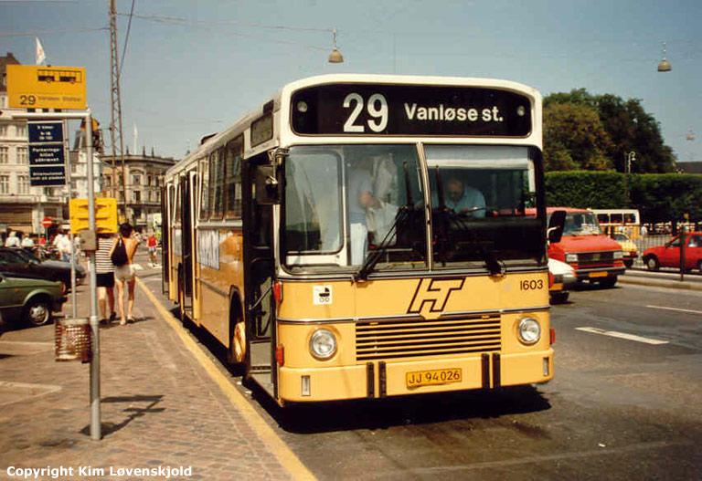 HT 1603/JJ94026 på Kgs. Nytorv i København i juli 1986