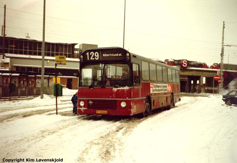 Hvidovre Rutebiler 08/HT88624 ved Hvidovre st. i 1987