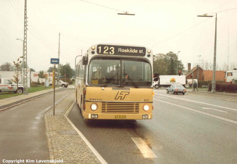 HT 637/CX97155 på Københavnsvej i Roskilde i oktober 1987