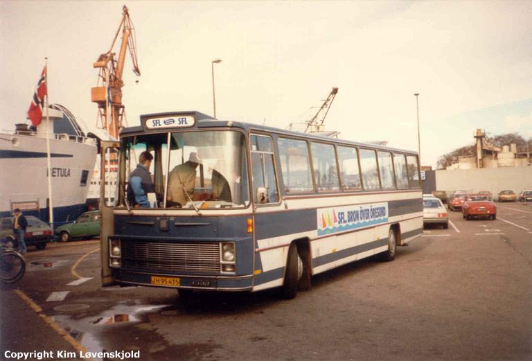 Hans Eriksen 1/JH95435 ved SFL-færgerne i Helsingør i 1986